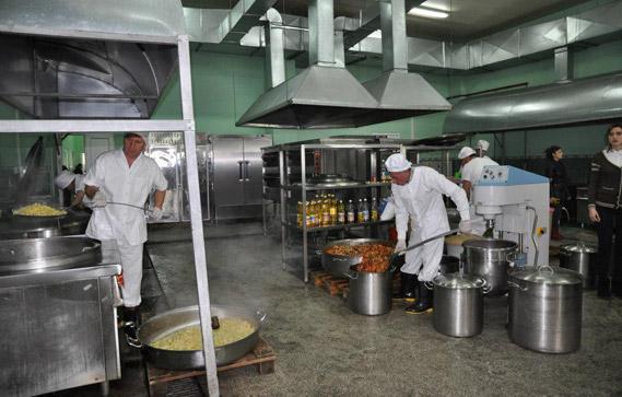 სამზარეულო ქსნის #15 სასჯელაღსრულების დაწესებულებაში/ფოტო: სამინისტროს პრესსამსახური