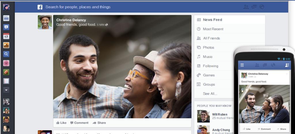 ფეისბუქის ახალი დიზაინი