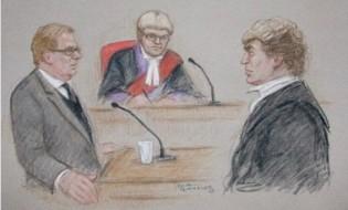 მოწმის დაკითხვა დიდი ბრიტანეთის სასამართლოში/ილუსტრაცია: Central News