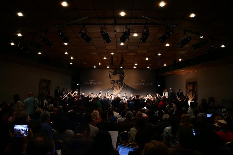 კანის 67-ე კინოფესტივალის ჟიურის პრესკონფერენცია. 2014 წლის 14 მაისი. ფოტო: EPA/VITTORIO ZUNINO CELOTTO