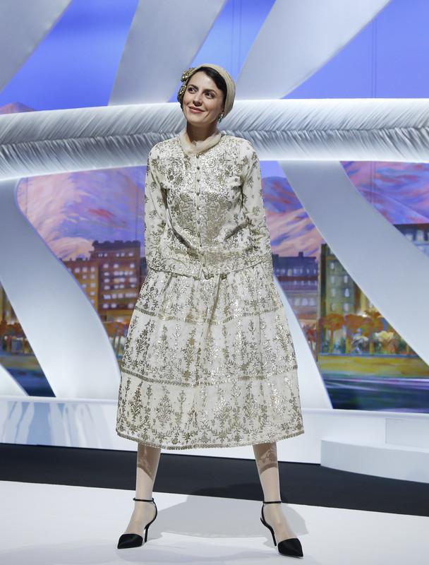 ჟიურის წევრი: ირანელი მსახობი ლეილა ჰათამი, ესწრება კინოფესტივალის გასხნის ცერემონიას. 2014 წლის 14 მაისი. EPA/GUILLAUME HORCAJUELO
