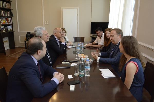 შეხვედრა როტშილდის ფონდის წარმომადგენლებთან კულტურის სამინისტროში. 2014 წლის 16 ივნისი