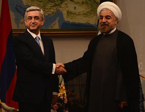 სომხეთის და ირანის პრეზიდენტები სერჟ სარგსიანი და ჰასან როჰანი, ფოტო: lragir.am