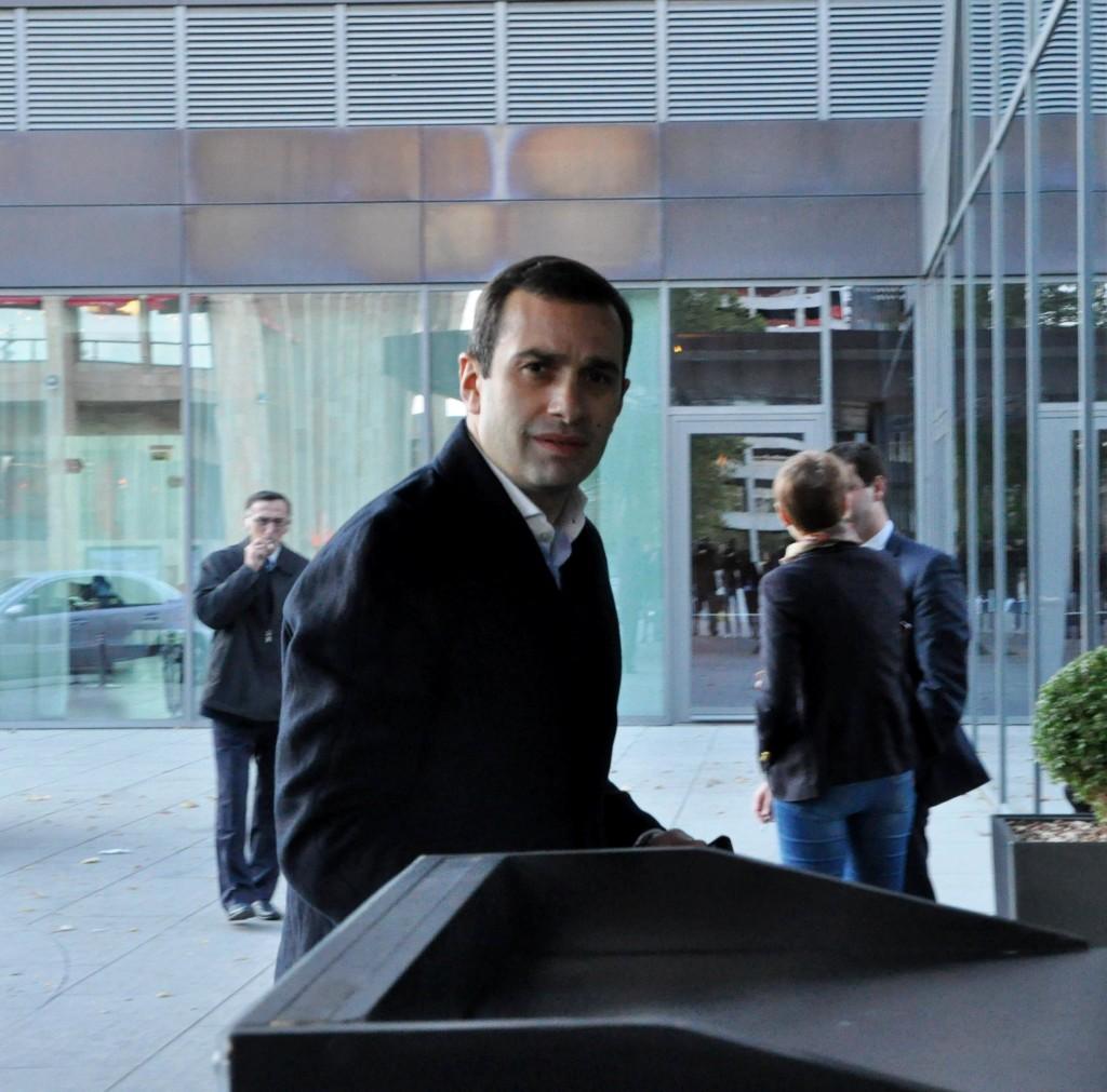 თავისუფალი დემოკრატების ლიდერი ირაკლი ალასანია საქართველოში ევროკავშირის ელჩ იანოშ ჰერმანთან შეხვედრისას. 06.11.2014 ფოტო: მიხეილ მეფარიშვილი
