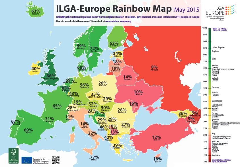 ლგბტი ადამიანების უფლებების მდგომარეობა ევროპაში 2015 წელს
