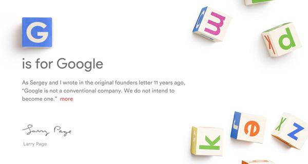 Google-მა ახალი კომპანია, Alphabet შექმნა. 11.08.15 ფოტო: Google Images