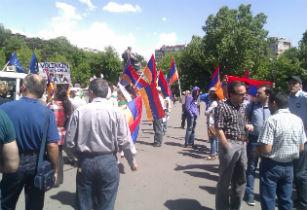 აქცია ერევანში, თავისუფლების მოედანზე, 2014 წლის 18 მაისი