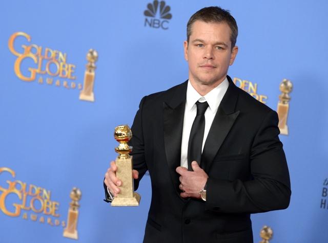 """მეთ დეიმონმა ფილმისათვის """"მარსელი"""" საუკეთესო მამაკაცი მსაიოხბის ტიტული მოიპოვა: ფოტო: EPA/PAUL BUCK"""