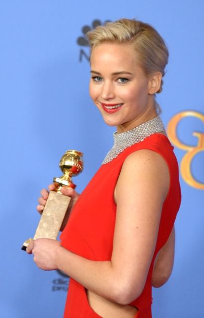 საუკეთესო ქალი მსახიობი კომედიური ჟანრის ფილმში შესრულებული როლისათვის 0 ჯენიფერ ლოურენსი. ფოტო: EPA/PAUL BUCK