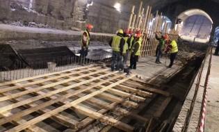თბილისში ახალი მეტროსადგურის მშენებლობა მიმდინარეობს. 23.02.2016. ფოტო: ნეტგაზეთი/გიორგი დიასამიძე