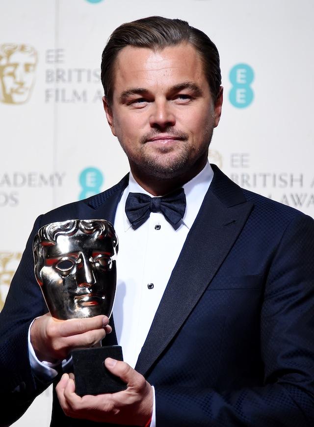 """BAFTA-ს საუკეთესო მამაკაცი მსახიობის ნომინაცია წელს ლეონარდო დიკაპრიოს ეგრო, ფილმისათვის """"რევენანტი"""". ფოტო: EPA/ANDY RAIN"""