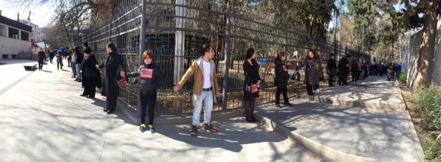 """""""არა გაზპრომს"""" - თბილისში რუსული კომპანიის წინააღმდეგ აქცია იმართება. ფოტო: ნეტგაზეთი/ გიორგი დიასამიძე"""