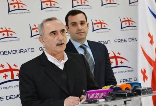 ზაზა ფირალიშვილი და ირაკლი ალასანია. ფოტო - თავისუფალი დემოკრატები