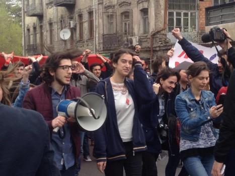 აუდიტორია 115-ის მსვლელობა 16.04.2016 ფოტო:ნეტგაზეთი/მარიამ ბოგვერაძე
