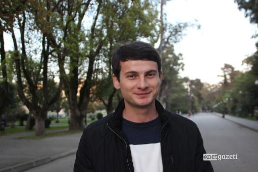 საიდ კუჯბა , აფხაზეთის სახელმწიფო უნივერსიტეტის სტუდენტი. ფოტო: მარიანა კოტოვა
