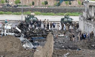 ძლიერ აფეთქებას ავთანეთში 28 ადამიანის სიცოცხლე ემსხვერპლა ფოტო: EPA/HEDAYATULLAH AMID