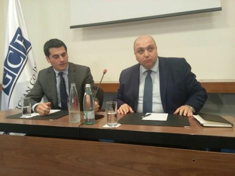 თანაინვესტირების პრესკონფერენცია რედისონში. ირაკლი ქარსელაძე (მარჯვნივ)