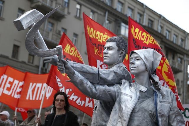 პირველი მაისი აღნიშნეს რუსეთის დედაქალაქ მოსკოვში. 01.05.16 ფოტო: EPA/MAXIM SHIPENKOV