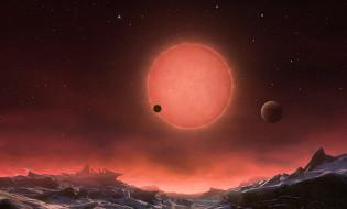 სავარაუდო ხედი ერთ-ერთი ახლადაღმოცენილი პლანეტიდან  EPA/ESO/M. KORNMESSER / HANDOUT