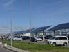 """მზის  ელექტროენერგიის წარმოქმნის სისტემა თბილისის აეროპორტთან. ფოტო: """"ტავ ჯორჯიას"""" ფეისბუქის გვერდი"""