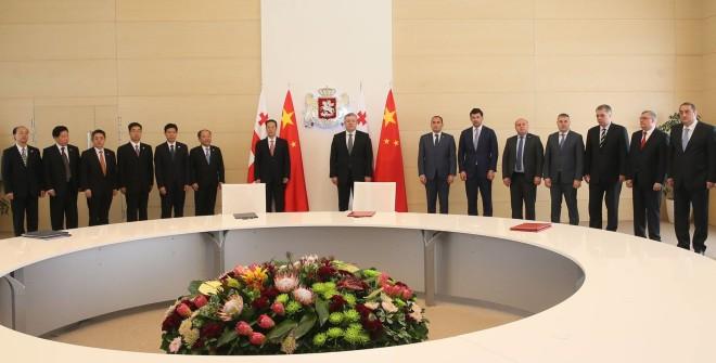 საქართველოში ოფიციალური ვიზიტით იმყოფება ჩინეთის დელეგაცია, რომელსაც ვიცე-პრემიერი ჭანგ გაოლი ხელმძღვანელობს.ფოტო: მთავრობის ადმინისტრაცია