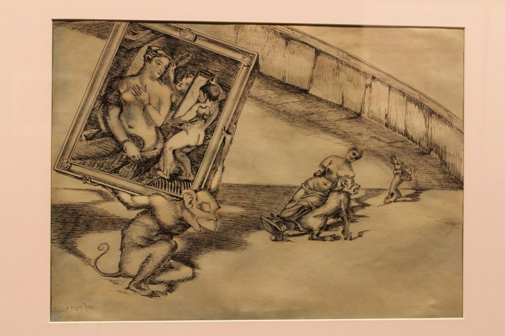 """ლადო გუდიაშვილი ნამუშევარი """"ვინ რა იცის რაში გამოგვადგება"""" 1942 წ. ფოტო: ნეტგაზეთი/გუკი გიუნაშვილი"""