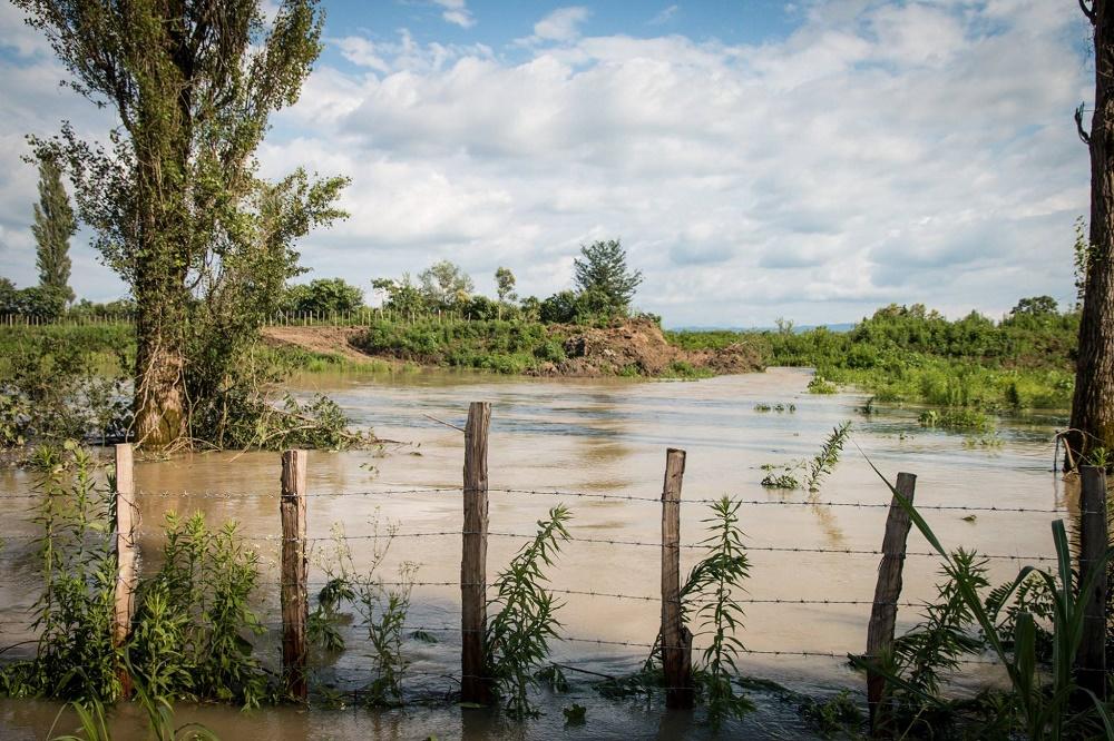 სამტრედიის რაიონში 10 ჰა სახნავ-სათესი მიწა წყლით დაიტბორა