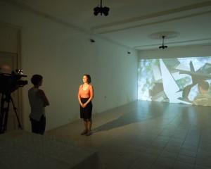 """აუდიო-ვიდეო ინსტალაცია """"ცხრაწყარო"""" ონის მხარეთმცოდნეობის მუზეუმში გამოიფინა"""