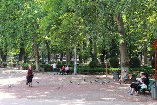 დამსვენებლები ვაკის პარკში. 1.08.2011