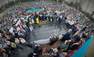აქცია საკონსტიტუციო რეფორმების წინააღმდეგ ბაქოში; 2016; ფოტო: ფეისბუკი