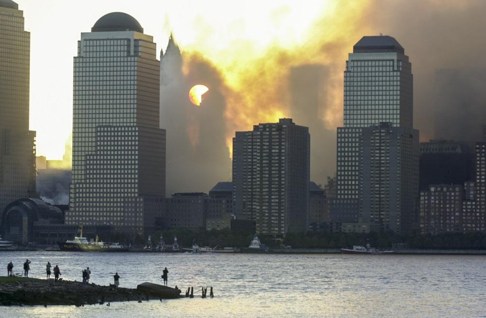 თავისუფლების ქანდაკებიდან დანახული ნიუ იორკი. 12 სექტემებრი, 2001 წელი. ფოტო: EPA/TANNEN MAURY