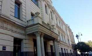აღმაშენებლის 150-ში მდებარე შენობა, სადაც პაატა ბურჭულაძის პარტიის ოფისი იყო განთავსებული. ფოტო: ნეტგაზეთი/ქეთი მაჭავარიანი