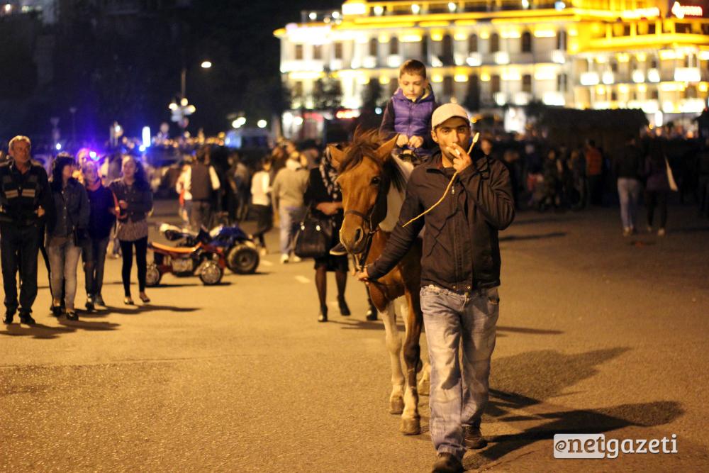 გასეირნება ცხენით თბილისობის ტრადიციული შეთავზებაა. 15.10.16 ფოტო: ნეტგაზეთი/გუკი გიუნაშვილი