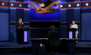 დასრულდა საპრეზიდენტო დებატები ამერიკის შეერთებული შტატების პრეზიდენტობის კანდიდატებს, ჰილარი კლინტონსა და დონალდ ტრამპს, შორის. ფოტო: EPA/GARY HE