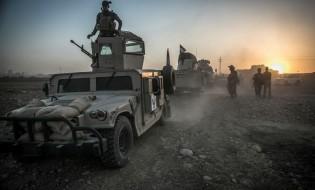 პეშმერგას ძალები ერაყის ჩრდილოეთით მდებარ ქალაქ მოსულთან მდებარე სოფლების ISIS-სგან გათავისუფლებისას. სირია. 14.08.2016. ფოტო: EPA/ANDREA DICENZO