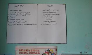 მოსწავლეების ქცევის წესები გომბორის სკოლაში. ფოტო: ირაკლი კუპრაძე