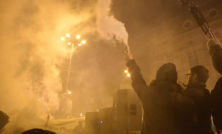საპროტესტო აქცია პარლამენტის შენობასთან თბილისში ნარკოპოლიტიკის ლიბერალიზაციის მოთხოვნით. 12.10.2016. ფოტო: ნეტგაზეთი/ლუკა პერტაია