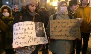 სოლიდარობა სირიელ ხალხს - აქცია თავისუფლების მოედანზე. 20.12.2016. ფოტო: ნეტგაზეთი/გიორგი დიასამიძე