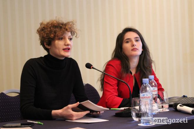"""კავშირ """"საფარის"""" დირექტორი ბაია პატრაია და იურისტი მარი კურტანიძე 14.12.16 ფოტო: ნეტგაზეთი"""