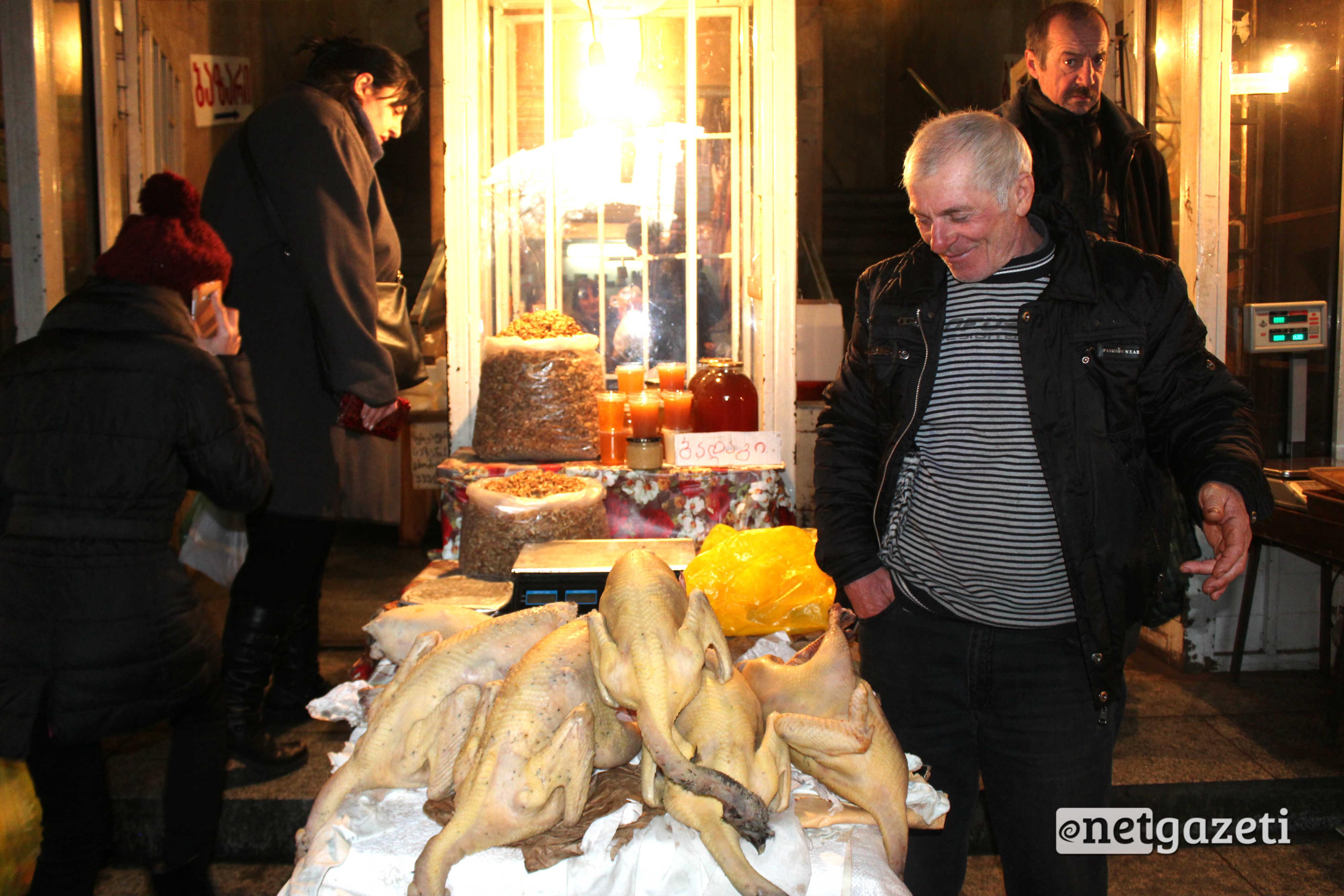 ინდაური, ყველი, ხილი, თბილისის ცენტრალური ბაზარი. ფოტო: გიორგი დიასამიძე/ნეტგაზეთი