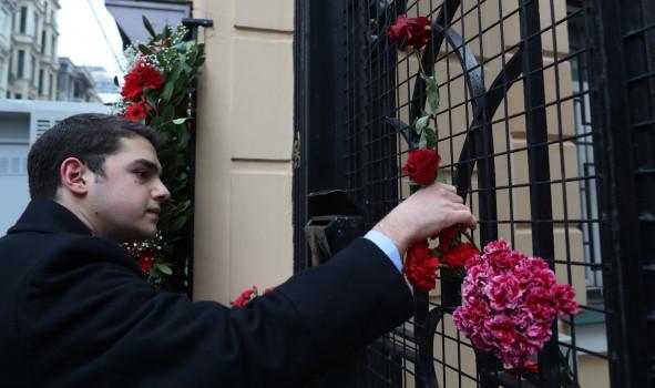 სტამბული რუსეთის საკონსულოს შენობა დღეს, 20 დეკემბერს © EPA/TOLGA BOZOGLU