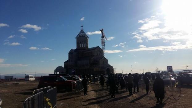 მახათის მთის ღვთისმშობლის ხატის სახელობის ტაძარი. 17.12.2016. ფოტო: ნეტგაზეთი/ქეთი მაჭავარიანია