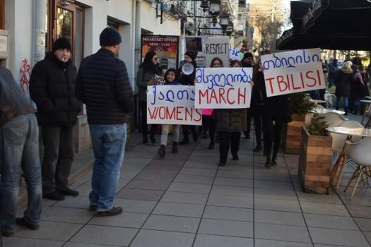ქალთა მსვლელობა თბილისში რუსთაველის გამზირზე. 21.01.2017. ფოტო: ნეტგაზეთი/ლუკა პერტაია