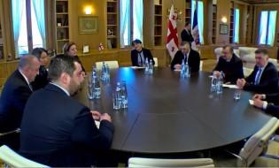 პრეზიდენტის შეხვედრა საპარლამენტო ფრაქციებთან