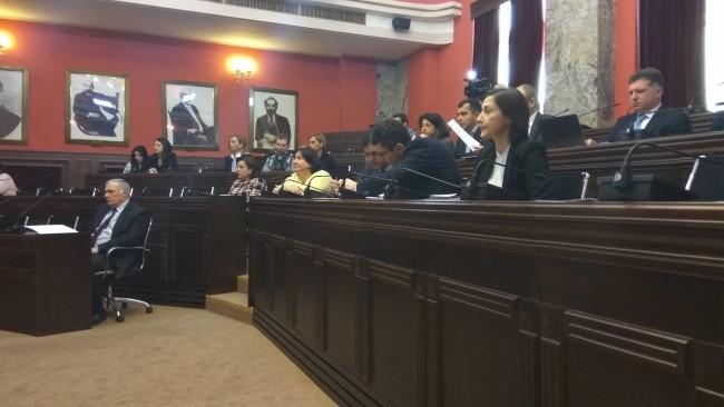 კომიტეტი საკონსტიტუციო სასამართლოს წევრობის კანდიდატ მანანა კობახიძეს უსმენს