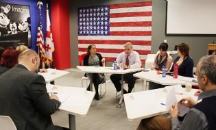 იან კელის შეხვედრა ჟურნალისტებთან და მედია-აქტივისტებთან © აშშ-ს საელჩო