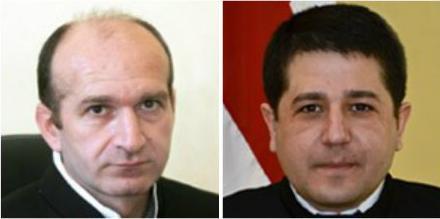პაატა ქათამაძე (მარცხნივ) და ბესარიონ ალავიძე. ფოტო: უზენაესი სასამართლო