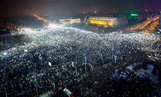 აქცია რუმინეთში მთავრობის წინააღმდეგ, 05.02.2017 credit: EPA/DAN BALANESCU