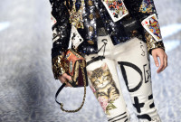 Dolce&Gabbana-ს  შემოდგომა-ზამთრის კოლექცია - მილანის მოდის კვირეული; მილანი, იტალია; 26 თებერვალი, 2017; EPA/FLAVIO LO SCALZO