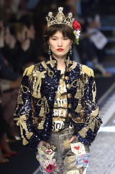 Dolce&Gabbana-ს  შემოდგომა-ზამთრის კოლექცია - მილანის მოდის კვირეული; მილანი, იტალია; 26 თებერვალი, 2017EPA/FLAVIO LO SCALZO
